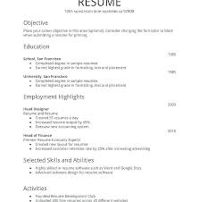 Resume Objectives For Freshers Impressive Free Resume Samples For Freshers Packed With Resume Format Examples