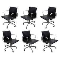 eames management chair. Six Vintage Eames Aluminum Group Leather \ Management Chair