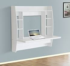 homcom floating wall mount office computer desk. HOMCOM Wall Mounted Floating Table Computer Desk With Storage Home Office Bedroom Furniture White Homcom Mount O