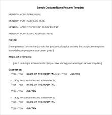 Resume Template For Nursing Job Free Resume Templates For Nurses Executive Resume Template