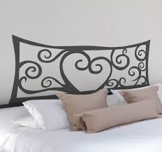 heart abstract headboard wall decal headboards original and distinctive decoration feature above