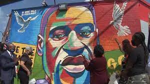George Floyd honored with mural in ...