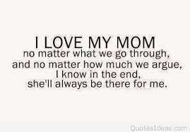 Love You Mom Quotes Mesmerizing Cartoon Love Mom Quote 48