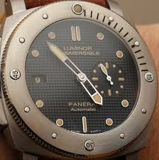 panerai luminor submersible left handed titanio pam569 watch hands panerai luminor submersible left handed titanio pam569 watch hands on hands on