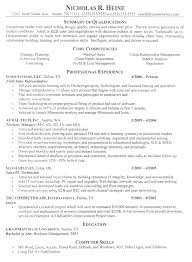 Professional Resume Examples By Nicholas R Heine Professional Delectable Business Resume Template