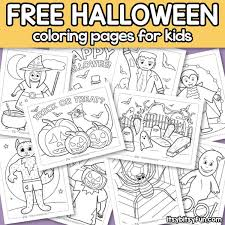 Great for making a halloween greeting card. Halloween Coloring Pages For Kids Itsybitsyfun Com