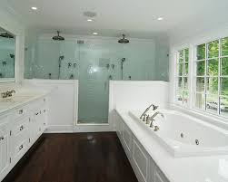dual shower head shower. Various Dual Shower Designs: Traditional Bathroom Brian Double Pony Wall With Door Head