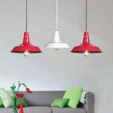 pendant lighting industrial style. Vintage Industrial Style Single Light Indoor Pendant Lighting In Red Finish D