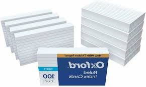 3x5 Cards Oxford 3x5 Index Cards Blank Flash Cards