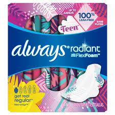 Always Radiant Pads For Teens Always