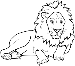 Big Coloring Pages Of Animals Zoo Animal Lion Coloring Pages