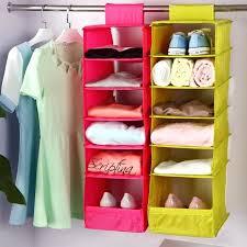 washable 5 candy colors folding hanging 6 compartments shelf closet organizer shoe storage bag pink koala baby