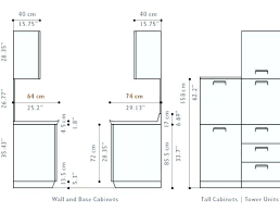 Fresh Standard Kitchen Wall Cabinet Sizes Chart Home