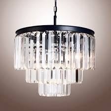 3 tier clear crystal chandelier mid century pendant lighting