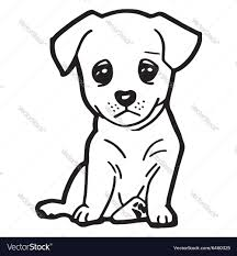 Small Picture Cute dog coloring page Royalty Free Vector Image