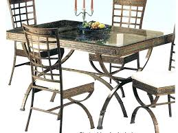 mainstays 5 piece glass top metal dining set table and instructions
