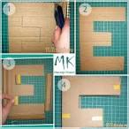 Большие буквы из картона своим рукам