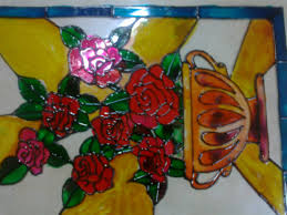 Beautiful Flower Designs For Glass Painting Glass Painting Aaishascreativedreams