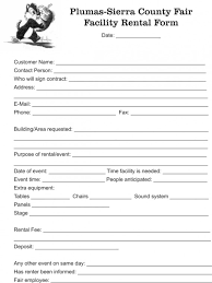 Free Rental Form Free Facility Rental Agreement Template Facility Rental Form