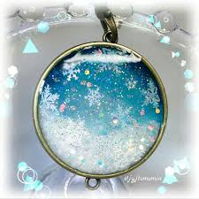雪の結晶 Uvレジンの作品紹介beauty Moon