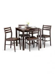 dining set monterey dark walnut dining table and 4 dining chairs mon301 enlarged view