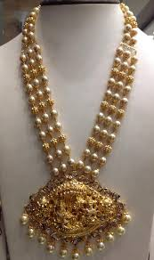 pearl chain with pachi pendant