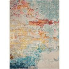 shugart sealife multicolor area rug modern area rugs r84