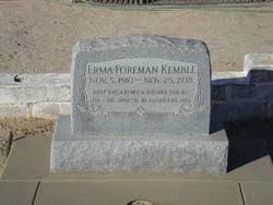 Erma Lee Forman Kemble (1910-1938) - Find A Grave Memorial
