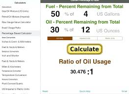 Fuel Oil Mix Ratio Chart Gas Oil Mix Chart 32 1 Ratio 50 Calculation Example To App