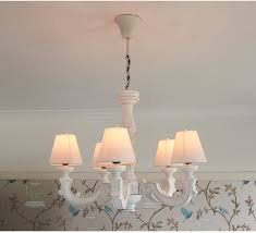 madeleine white wooden chandelier five arm