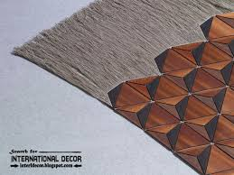 new collection of eco friendly wooden carpet and rugs with fringe