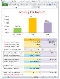 Georges Excel Car Loan Calculator V2 0 Car Loan Payment Calculator