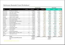 Remodel Estimating Spreadsheet Remodel Cost Spreadsheet Home Remodel Cost Spreadsheet Fresh Home