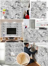 marble foam 3d wall stickers wall decor brick