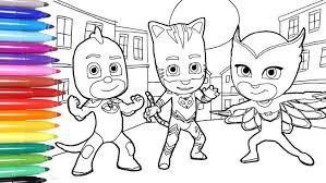 Pj Masks Coloring Pages Catboy Romeo Night Ninja Gekko Colouring