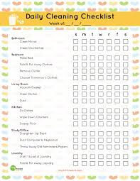cleaning checklist 40 printable house cleaning checklist templates template lab