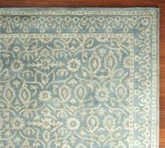 pottery barn rug reviews inspirational printed wool blue new bosworth gray