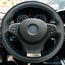 steering wheel wrap kit hand stitched black artificial leather car steering wheel covers wrap for non