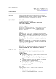 Professional Electrical Engineer Cv Template Templates At