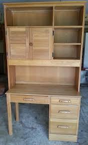 a brandt ranch oak desk hutch chair light