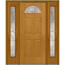 brown front door4 Panel  Light Brown Wood  Front Doors  Exterior Doors  The