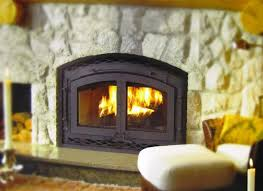 image of zero clearance wood fireplace