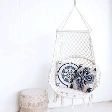 macrame hammock chair cream hammock chair swing with blue provincial cushions macrame hanging chair pattern