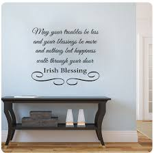 amazon irish blessing may your troubles be less and your blessings be more wall decal 26x22 home kitchen on irish blessing wall art with amazon irish blessing may your troubles be less and your