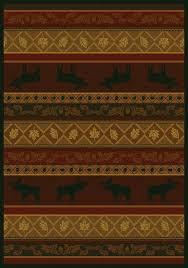 moose lodge rustic wildlife hautman brothers area rug by united weavers genesis rugs