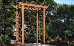 how to build a garden arbor the home