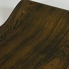 SimpleLife4U Dark Brown Walnut Wood Grain Contact Paper Self-Adhesive Shelf  Liner Door Sticker 17.7