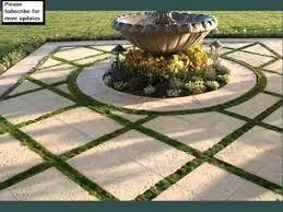 landscape pavers grass