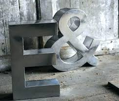 lovely metal initial wall decor x0478015 large metal letter wall decor