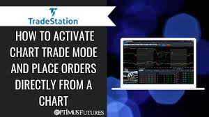 Tradestation How To Activate Chart Trade Mode And Place Orders Directly From A Chart